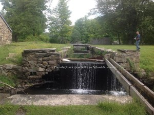 A former lock on the Morris Canal within Waterloo Village. Photo by Jennifer Jean Miller.