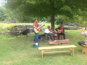 Live musical entertainment near the site of the Morris Canal was another highlight of the day. Photo by Jennifer Jean Miller.