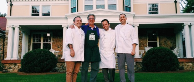 Chefs Bradley Boyle, Kirk Avondoglio, Andre de Waal and Tim Harder will join forces to assist Project Self-Sufficiency at the annual Harvest Shoot & Taste of Autumn Gourmet Gathering. (Photo credit, Rob Yaskovic)