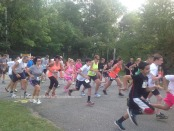 The 5K Participants at the start of the race. Photo by Jennifer Jean Miller.