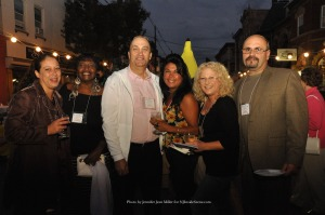 Friends joined Desiree and Tony Torre (second and third from left) for a photo. Photo by Jennifer Jean Miller.