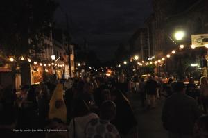 Lights twinkle along Spring Street. Photo by Jennifer Jean Miller.