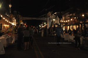 Spring Street lights up for the latter part of the event. Photo by Jennifer Jean Miller.