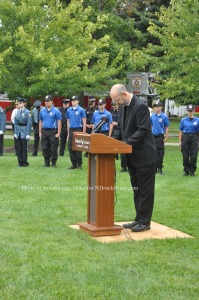 Reverend David Young gave the invocation and benediction. Photo by Jennifer Jean Miller.