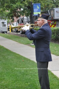 "Robert Gagliano performs ""Taps."""