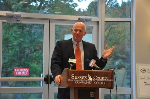 Chuck Roberts addresses the group. Photo by Jennifer Jean Miller.