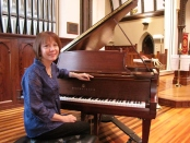Pianist Diana Greene will be one of the featured performers at a Chamber Music Concert to dedicate the Steinway piano recently donated to Christ Church Newton. Photo courtesy of Christ Church.