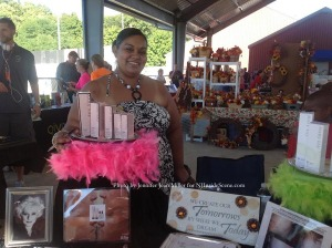Pamela Ortiz, a Mary Kay Independent Beauty Consultant, was one of the festival's vendors. Photo by Jennifer Jean Miller.