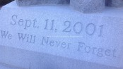 Message inscribed at the 9/11 Memorial at Sussex County Community College. Photo by Jennifer Jean Miller.