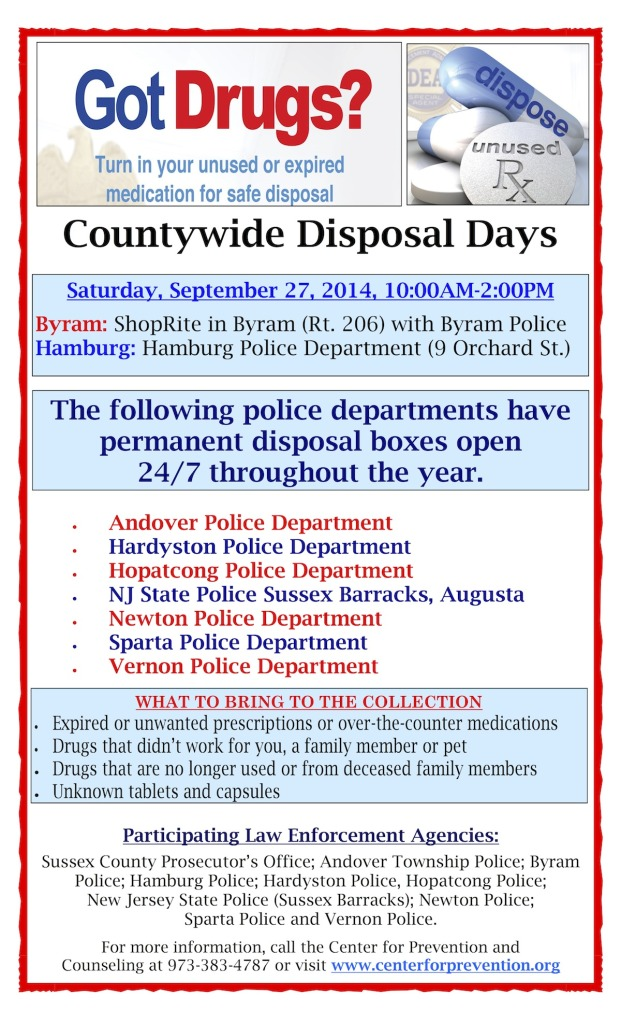 Sussex County Rx Disposal Event Fall 2014 copy
