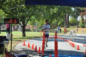 Sam Dunn was second in the 5K. Photo by Jennifer Jean Miller.