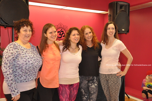 Keri Marino (center) with her fellow instructors at PEARLL Yoga for the Soul. Photo by Jennifer Jean Miller.