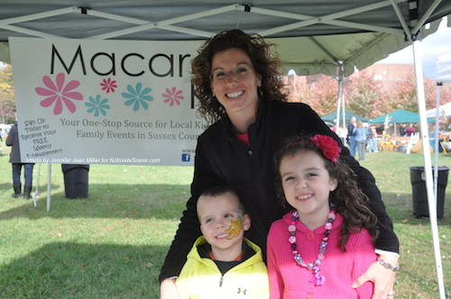 Local Macaroni Kid Editor & Publisher Jaime Boffa poses with two youngsters who enjoyed crafts at her table, and the festival, Nicholas and Ashley. Photo by Jennifer Jean Miller.