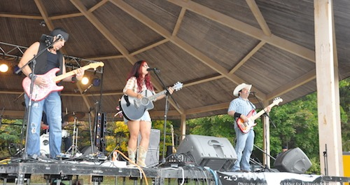 Nikki Briar and the SweetBriar Band at the Newton Country Cool Festival. Photo by Jennifer Jean Miller.