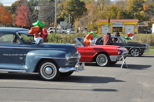intage cars sparkle in the fall sunshine and are lined up during the car show. Photo by Jennifer Jean Miller.