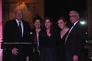 From left to right: Chuck Roberts (Sussex County Community College Foundation Chairman), Judge Lorraine C. Parker (Sussex County Community College Board of Trustees Chair), Karen DiMaria (SCCC Vice President of Institutional Advancement), Caitlin D. Berkefeld, and Dr. Paul Mazur (SCCC President). Photo by Jennifer Jean Miller.