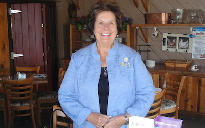 Marjorie Strohsahl was a guest speaker with the Hopatcong Women's Club. Photo courtesy of the Hopatcong Women's Club.