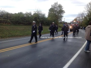 Montague Fire Department marches in the parade, representing the northern part of Sussex County. Photo by Jennifer Jean Miller.