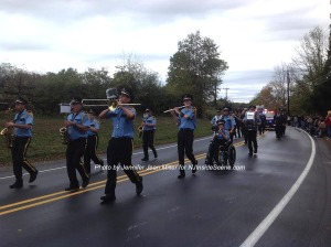One of the marching bands that participated in the parade. Photo by Jennifer Jean Miller.