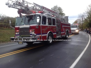 A fire truck from Stanhope. Photo by Jennifer Jean Miller.