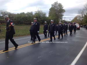 Vernon's McAfee Fire Department marches. Photo by Jennifer Jean Miller.