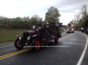 A vintage fire truck from Branchville. Photo by Jennifer Jean Miller.