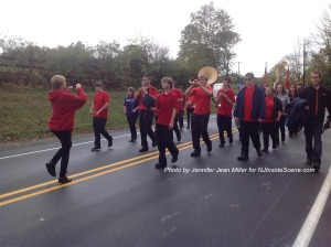 One of the many marching bands. Photo by Jennifer Jean Miller.