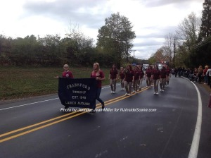 The Frankford Township Ladies Auxiliary follows the department. Photo by Jennifer Jean Miller.