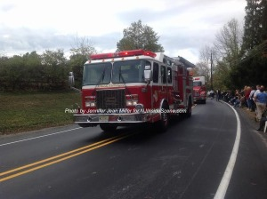 Byram Township with one of its engines. Photo by Jennifer Jean Miller.