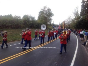 The Franklin Band precedes the fire department. Photo by Jennifer Jean Miller.