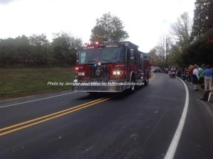 One of Franklin Fire Department's engines. Photo by Jennifer Jean Miller.
