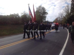 Netcong Fire Department marching in the parade. Photo by Jennifer Jean Miller.