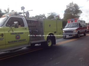 Trucks from Sussex County Community College's Training Academy. Photo by Jennifer Jean Miller.