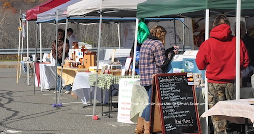 A row of vendors at the Sparta Winter Farmers' Market. Photo by Jennifer Jean Miller.