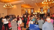 Attendees visiting the various businesses at the Sussex County Chamber of Commerce EXPO. Photo by Jennifer Jean Miller.
