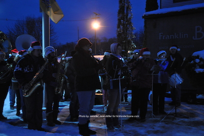 The Franklin Band outside of the Senior Center. Photo by Jennifer Jean Miller.