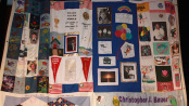 The AIDS Memorial Quilt that was hung in the Student Center Theater at Sussex County Community College in December of 2013. Photo courtesy of Sussex County Community College.