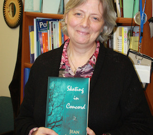 "Assistant Professor, Jean LeBlanc with her new book ""Skating in Concord."