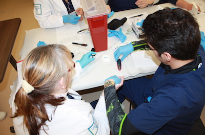 Students in the Medical Assistant program learn techniques such as drawing blood and other clinical duties during this 41-week program. Photo courtesy of SCCC.
