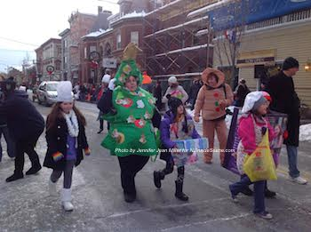 Members of one of the local Girl Scout Troops in the parade. Photo by Jennifer Jean Miller.