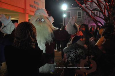 Santa just prior to lighting the Christmas Tree. Photo by Jennifer Jean Miller.