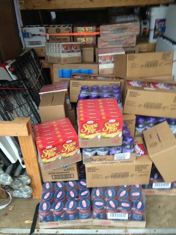 Food items to be delivered to the pantry. Photo courtesy of Boy Scout Troop 150.