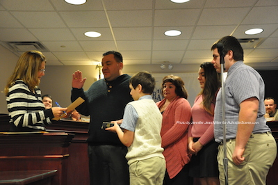 Councilman Joe Limon at the swearing in. Photo by Jennifer Jean Miller.