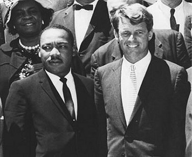Dr. Martin Luther King and Robert Kennedy, June 1963.
