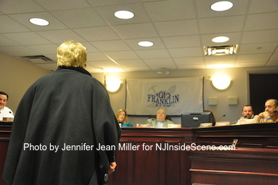 Resident Donna Arrigo speaks at the meeting. Photo by Jennifer Jean Miller.