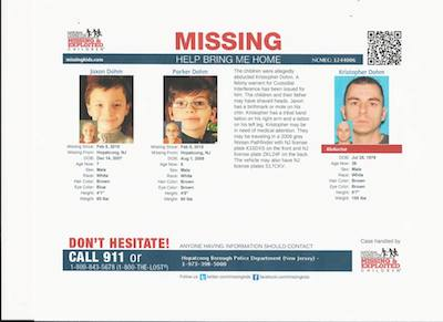 Parker and Jaxon Missing and Exploited Children Photo copy