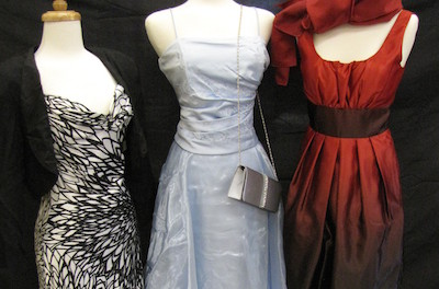 Prom dresses on display at the Sister to Sister Prom Shop at Project Self-Sufficiency.
