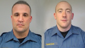 Lieutenant Jeffrey Smith (left) and Officer Jesse Babcock (right) who performed a Naloxone (Narcan) save, with the victim surviving. It was the first administration of the lifesaving opiate antidote in Franklin. Photos courtesy of the Franklin Borough Police Department.