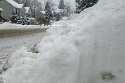 Snowy roadway in Newton, NJ. Photo by Jennifer Jean Miller.