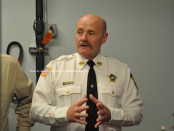 Undersheriff Keith Armstrong conducts a tour. Photo by Jennifer Jean Miller.